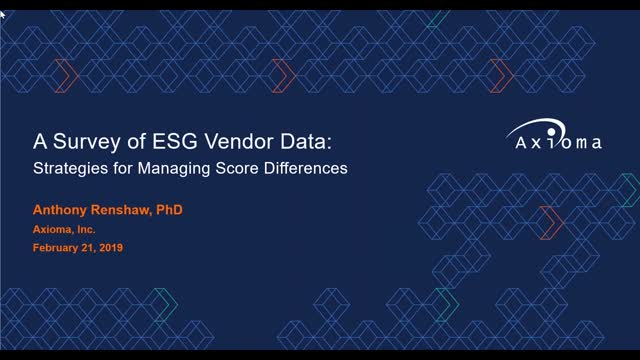 A Survey of ESG Vendor Data: Strategies for Managing Score Differences