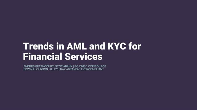 Trends in AML and KYC for Financial Services