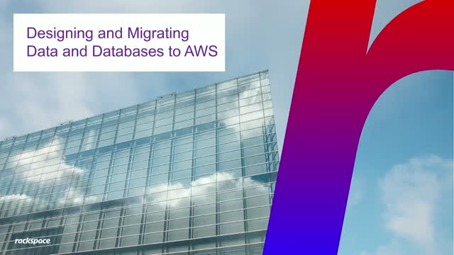 AWS WEBINAR: Designing and migrating data and databases to AWS