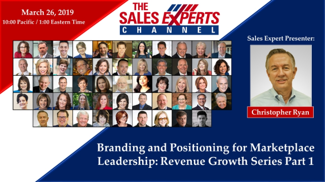 Branding and Positioning for Marketplace Leadership:Revenue Growth Series Part I