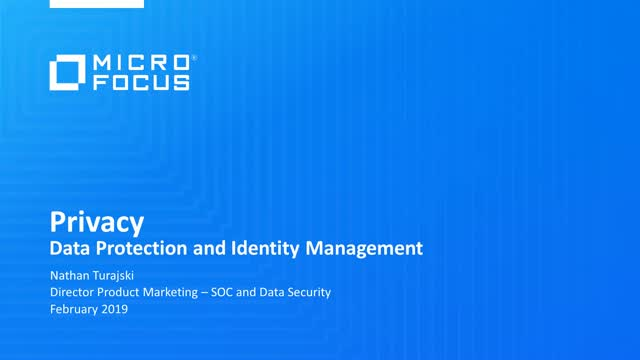 Privacy: An Introduction to Data Protection and Identity Management