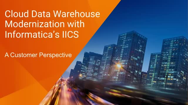 Bioverativ's Cloud Data Warehouse Modernization with Informatica's iPaaS