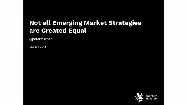 Not All Emerging Market Strategies are Created Equal