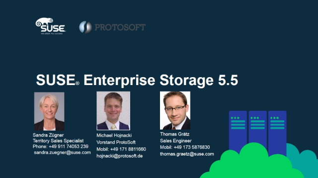 SUSE und Protosoft: Software Defined Storage - schlüsselfertiges Komplettsystem