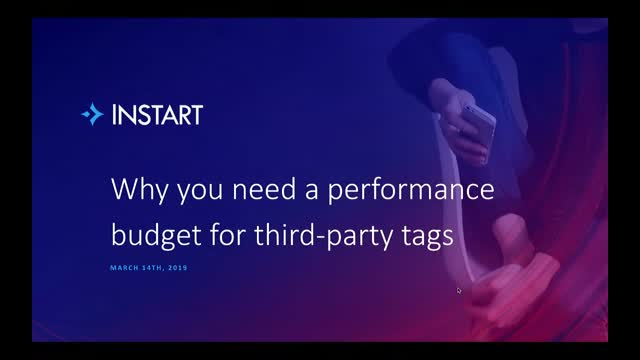 Why you need a performance budget for third-party tags