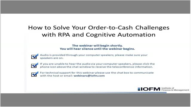 How to Solve Your Order-to-Cash Challenges with RPA and Cognitive Automation