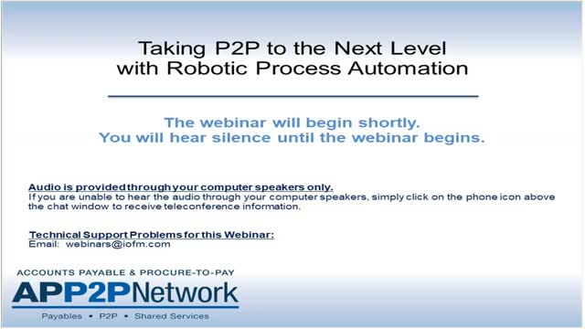 Taking Procure-to-Pay to the Next Level with RPA and Cognitive Automation