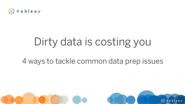 Dirty Data is Costing You