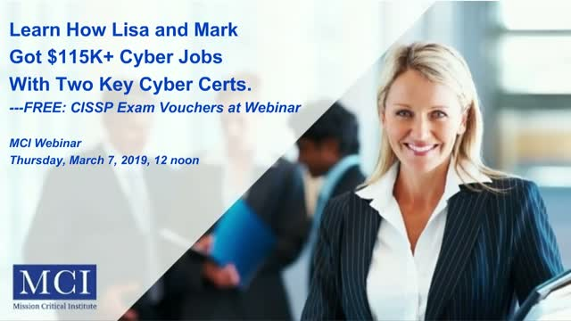 How Lisa and Mark Got $115K+ Cyber Jobs with Two Certs + CISSP Exam Voucher