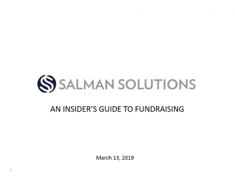 An Insider's Guide to Fundraising