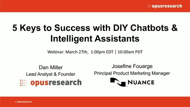 5 Keys to Success with DIY Chatbots & Intelligent Assistants