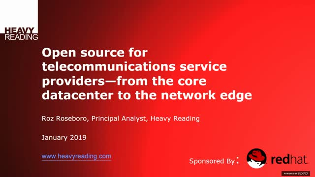 Open Source for Telecommunications Service Providers