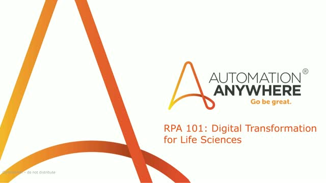 RPA 101: Digital Transformation for Life Sciences