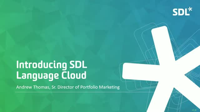Introducing SDL Language Cloud