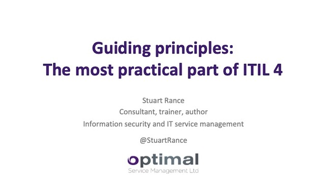 Guiding principles: The most practical part of ITIL 4