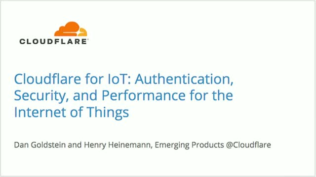 Authentication, Security, and Performance for the Internet of Things