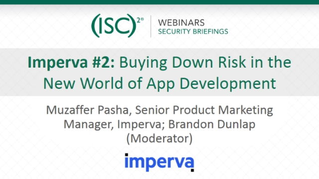 Imperva #2: Buying Down Risk in the New World of App Development
