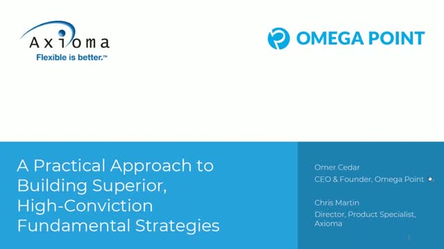 Practical Approach to Building Superior, High-Conviction, Fundamental Strategies