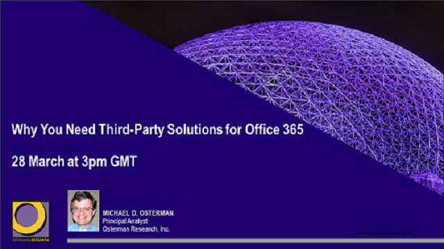 Why You Need Third-Party Solutions for Office 365
