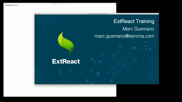 SNC - Sencha React Developer Tool Training - ExtReact