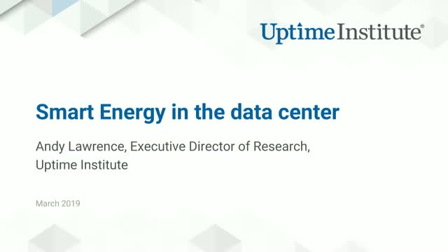 Smart Energy in the Data Center