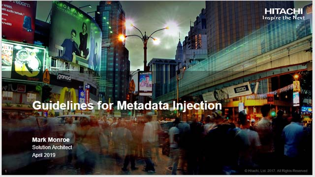 Guidelines for Metadata Injection