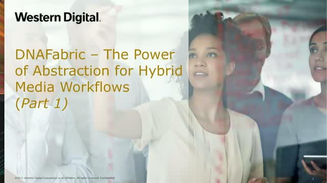 DNAFabric –The Power of Abstraction for Hybrid Media Workflows (Part 1)
