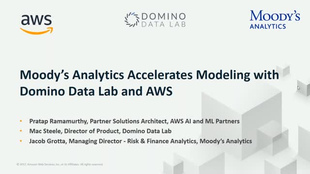 Moody's Analytics Accelerates Modeling with Domino Data Lab & AWS