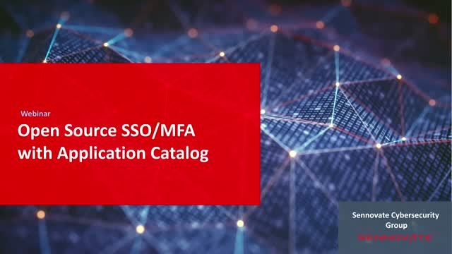 Open Source SSO/MFA with Application Catalog