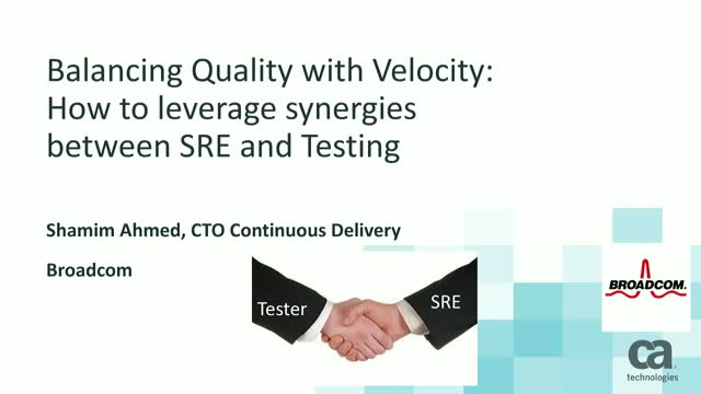 The Role of SRE in Continuous Testing and Continuous Delivery
