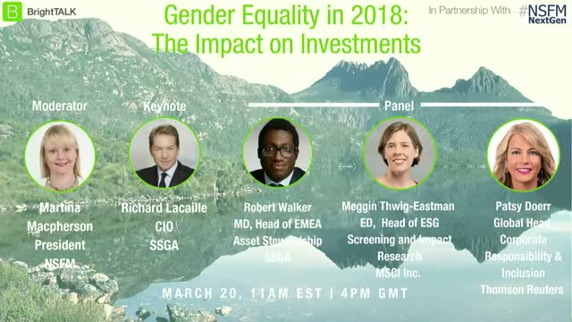 SDG #5: Gender Equality in 2018: The Impact on Investments