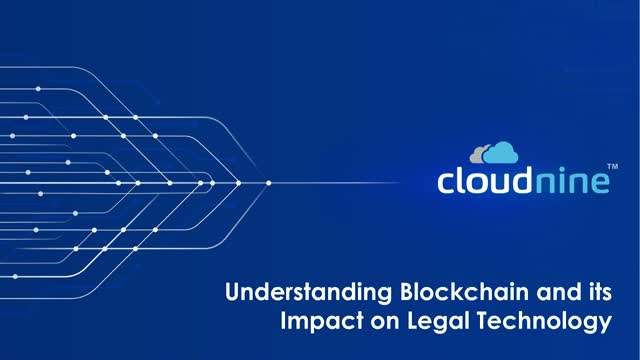 Understanding Blockchain and its Impact on Legal Technology