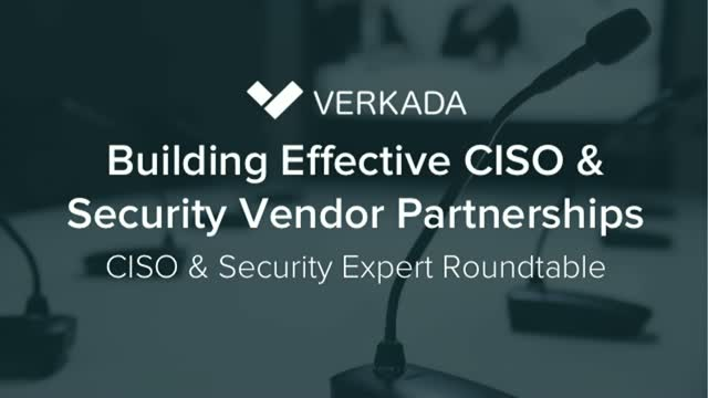 Building Effective CISO & Security Vendor Partnerships