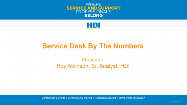 Service Desk by The Numbers