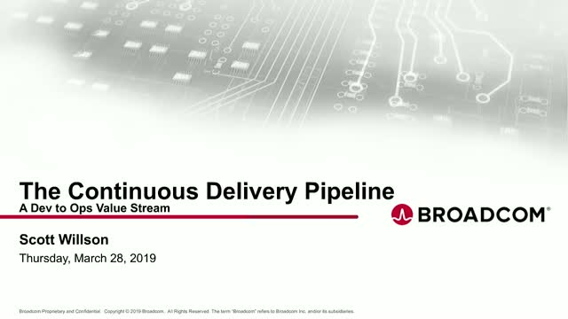 The Continuous Delivery Pipeline - A dev to ops value stream