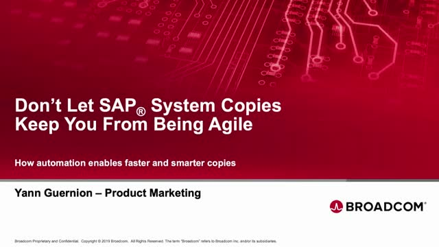 How to Deliver SAP System Copies Faster with Automation