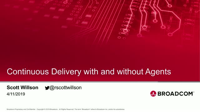 Continuous Delivery with and without Agents