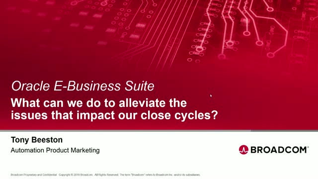Closing EBusiness Suite books faster and more accurately with automation