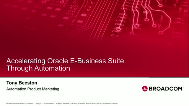 Accelerating Oracle E-Business Suite Through Automation