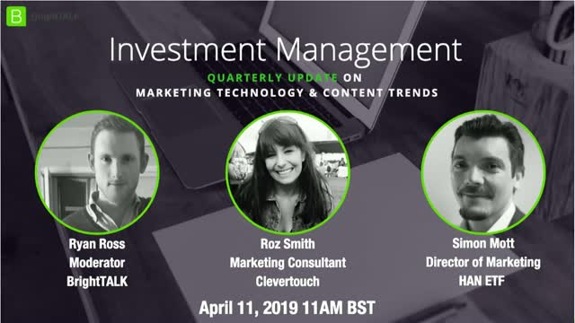 Investment Management Community Update: Technology & Content Trends