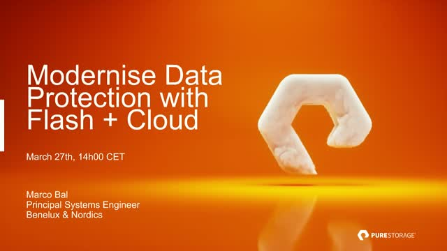 Modernize Data Protection With Flash + Cloud