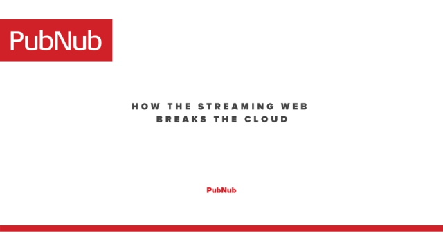 How the Streaming Web Breaks the Cloud - And what to do about it