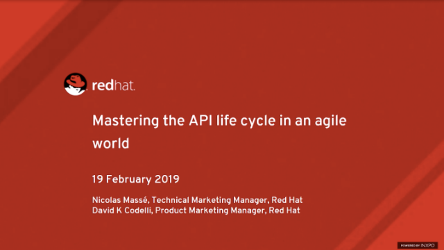 Mastering the API life cycle in an agile world