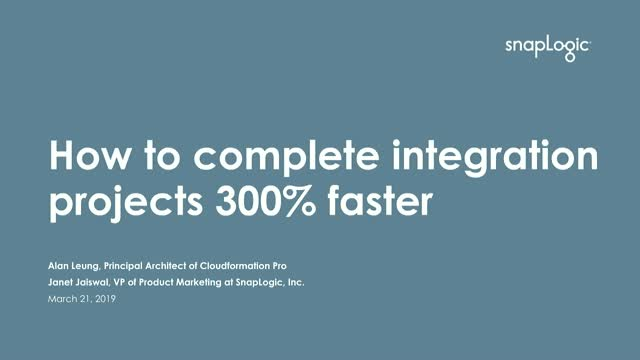 How To Complete Integration Projects 300% Faster: