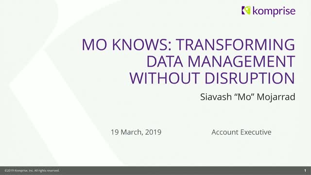 Mo Knows: Transforming Data Management Without Disruption