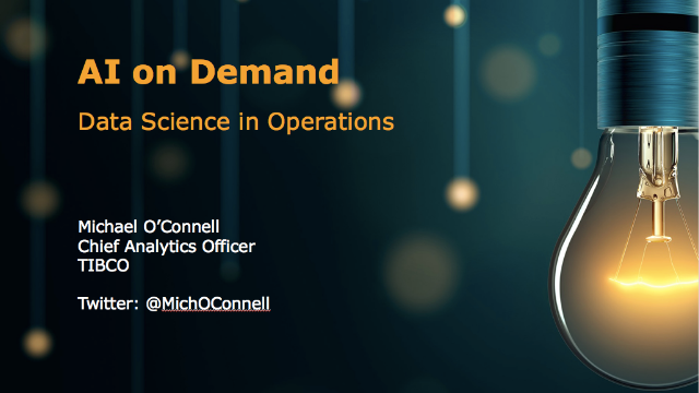 AI on Demand: Data Science in Operations