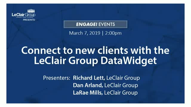 LeClair Group DataWidget
