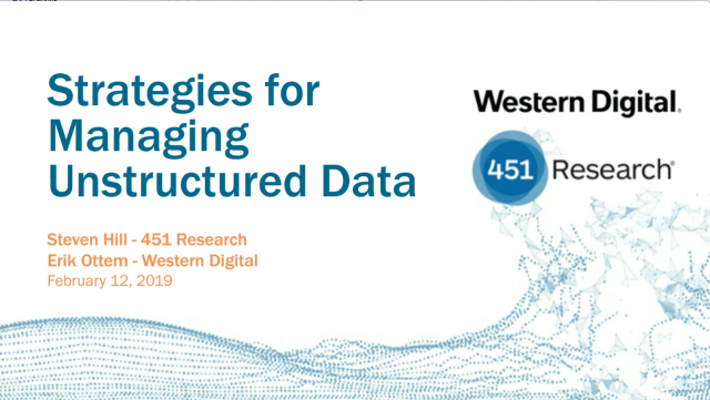 Western Digital and 451 Research: Strategies for Managing Unstructured Data