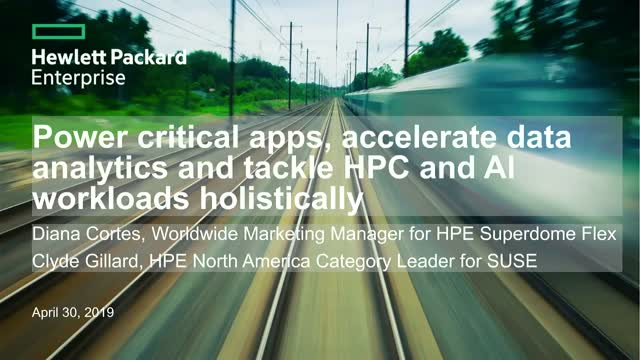 Power critical apps, accelerate data analytics and tackle HPC and AI workloads