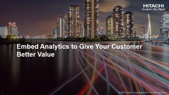 Embed Analytics to Give Your Customers Better Value